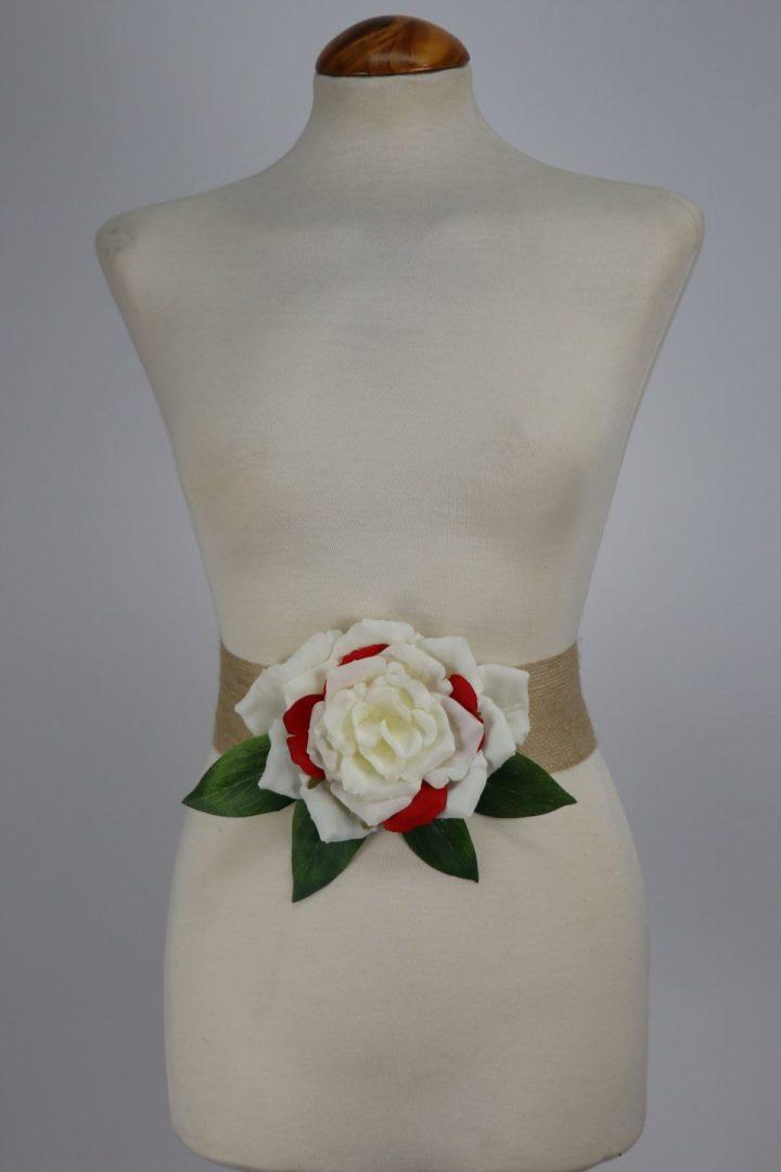 cinturon con flores para vestidos de fiesta